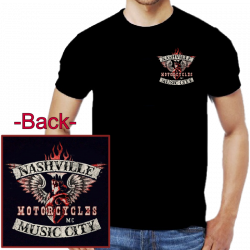 Nashville Music City Motorcycle Tee