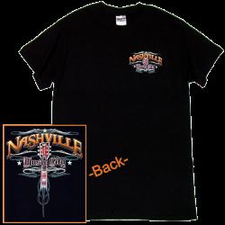 Nashville Black Guitar Tee