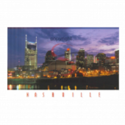 Nashville Postcard Pack- Night Skyline